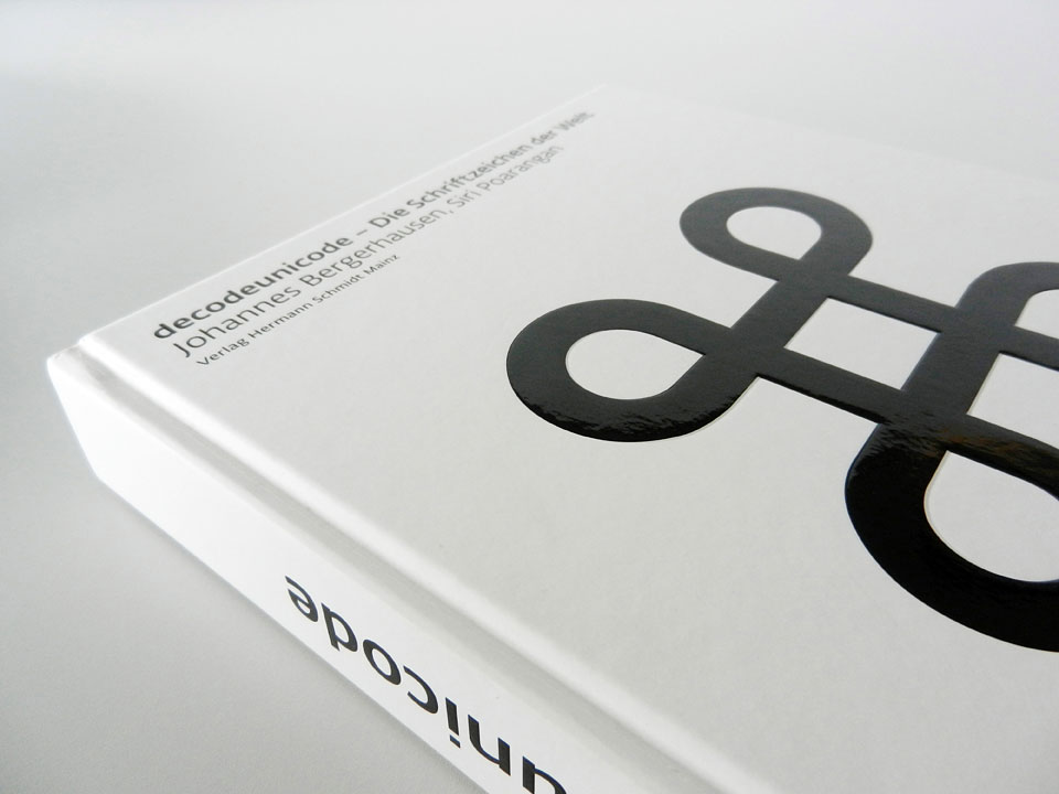a closeup of the closed decodeunicode book